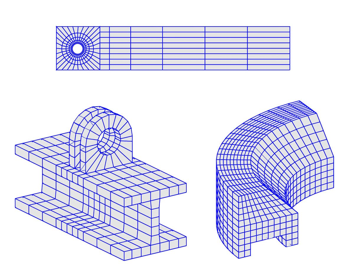 Creating Structured Finite Element Grids and Meshes