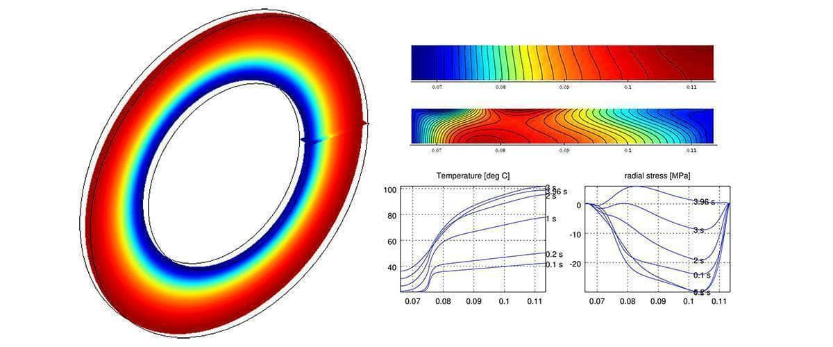 Matlab Modeling and FEM Simulation of Heat Induced Stress