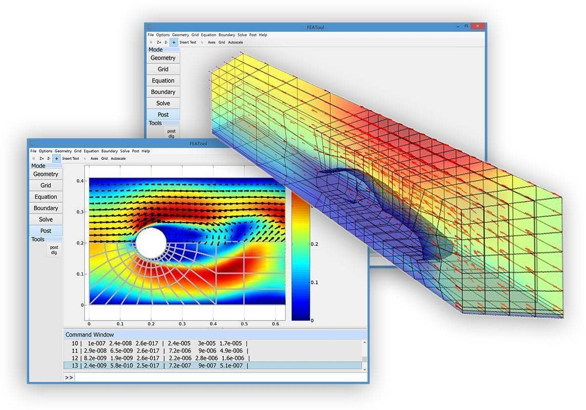 FEATool Multiphysics Matlab CFD Toolbox Improvements