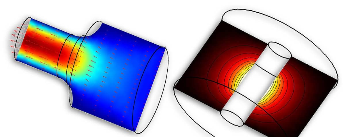 Axisymmetric Modeling and Multiphysics Simulation in FEATool