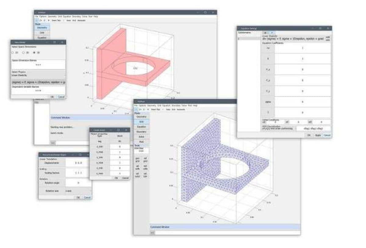 FEATool v1.5 new 3D Geometry and CAD Engine