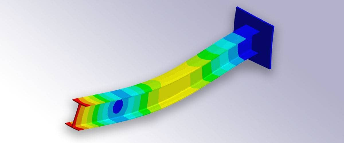 FEM Euler Beam Modeling and Simulation in Matlab with FEATool Multiphysics