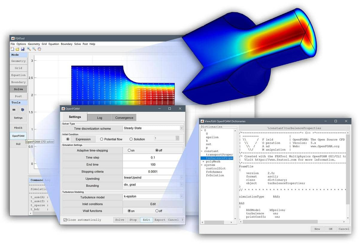 FEATool Multiphysics 1.13 - CAD Geometry and Modeling Tool Updates