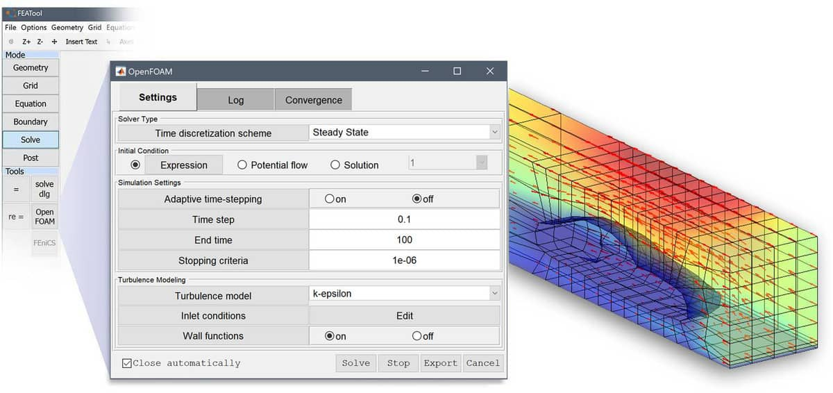 FEATool 1 8 - OpenFOAM MATLAB CFD Solver and GUI Interface